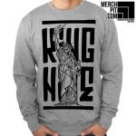 KING NINE ´Scared To Death´ - Sports Grey Crewneck
